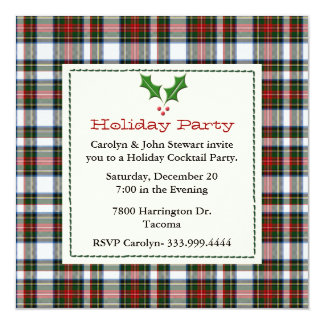 De modieuze Dress Tartan Custom Holiday Partij van Kaart