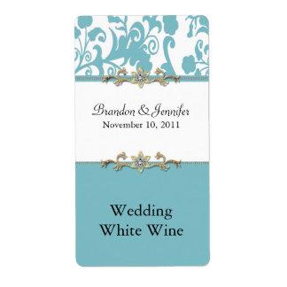 De modieuze Etiketten van de Wijn van het Huwelijk