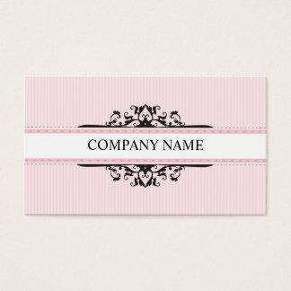 De modieuze goddelijke vintage roze zwarte van het visitekaartjes