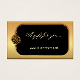 De modieuze Gouden Sjabloon van het Certificaat Visitekaartjes