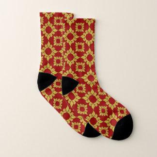 De modieuze Rode Gele en Zwarte Sokken van het