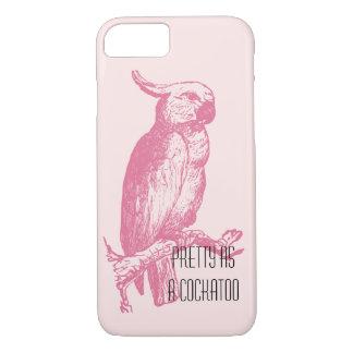 De Modieuze Roze Grappige Vogel Girly van de iPhone 8/7 Hoesje