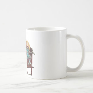 De Moeder en de Dochter van de cartoon op een Koffiemok