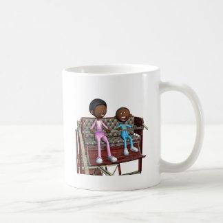 De Moeder en de Zoon van de cartoon op een Koffiemok