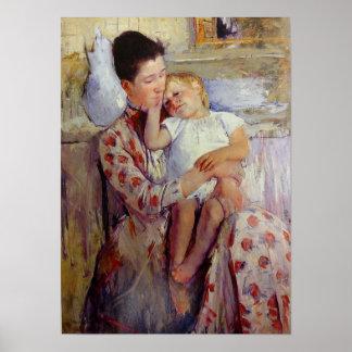 De Moeder en het Kind van de Kunst van Cassatt Poster