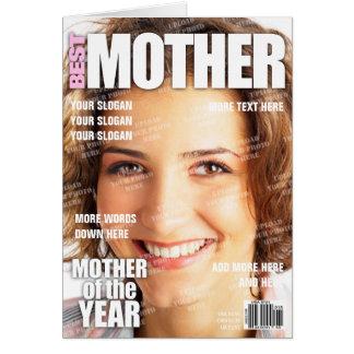 De moeder personaliseerde de Dekking van het Briefkaarten 0