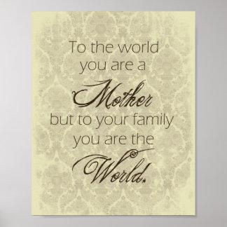 De moeder u is het Poster van de Wereld