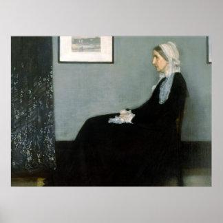 De Moeder van de fluiter - het Poster van de Kunst