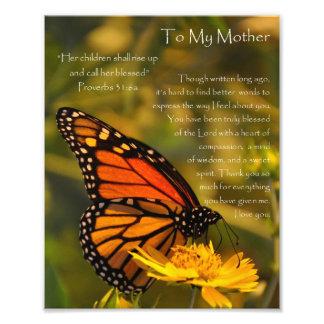 De Moeder van de Gezegden van de Vlinder van de mo Foto Afdruk