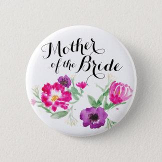 De moeder van de Waterverf van de Bruid bloeit Ronde Button 5,7 Cm