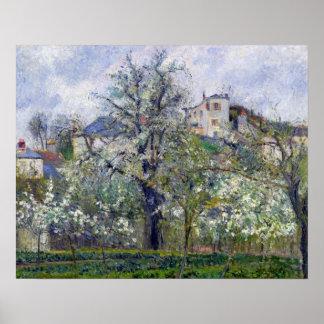 De Moestuin met Bomen in Bloesem Poster
