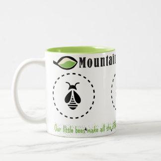 De mok-Berg van de koffie BosHoning Tweekleurige Koffiemok