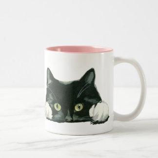 de mok grappige kat van de kattenminnaar