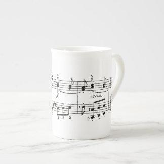 De Mok van China van muzieknoten
