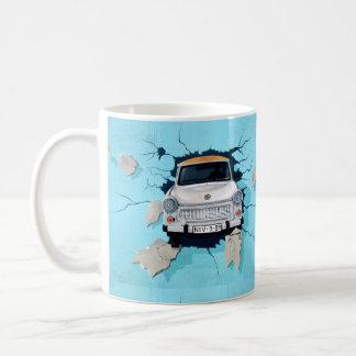 de mok van de autokoffie