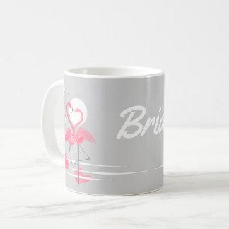 De mok van de Bruid van de Liefde van de flamingo
