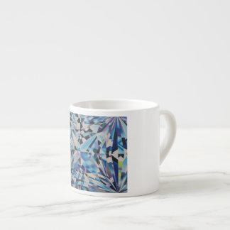 De Mok van de Espresso van de Diamant van het glas