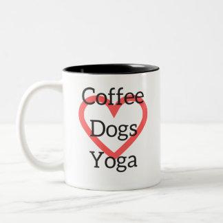 De Mok van de Honden van de Yoga van de koffie