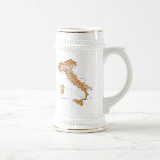 De Mok van de Kaart van de Vlag ~ van Italië