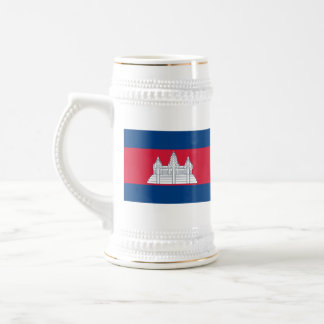 De Mok van de Kaart van de Vlag ~ van Kambodja