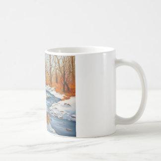 De Mok van de koffie met de scène van de de
