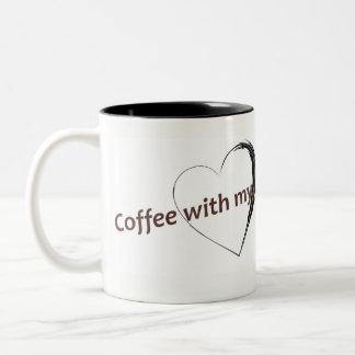 De Mok van de koffie met liefde