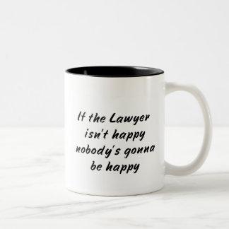 De Mok van de Koffie van de advocaat