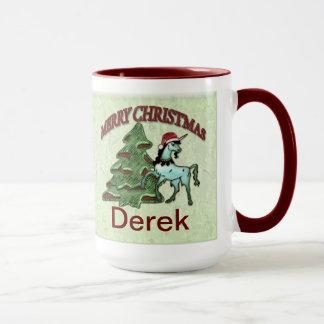 De Mok van de Koffie van de Eenhoorn van Kerstmis
