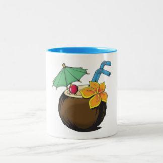 De Mok van de Koffie van de kokosnoot