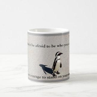 De Mok van de Koffie van de Moed van de pinguïn