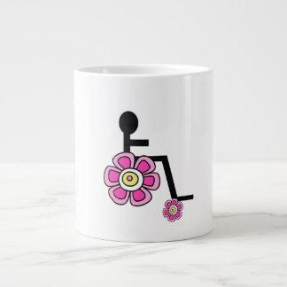 De Mok van de Koffie van de Rolstoel van flower
