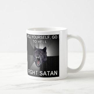 De Mok van de Koffie van de Satan van de strijd