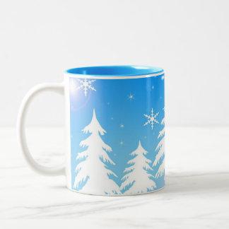De Mok van de Koffie van de Scène van de winter
