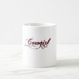 De Mok van de Koffie van de veedrijfster met de