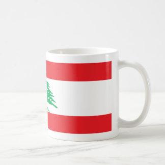 De Mok van de Koffie van de Vlag van Libanon