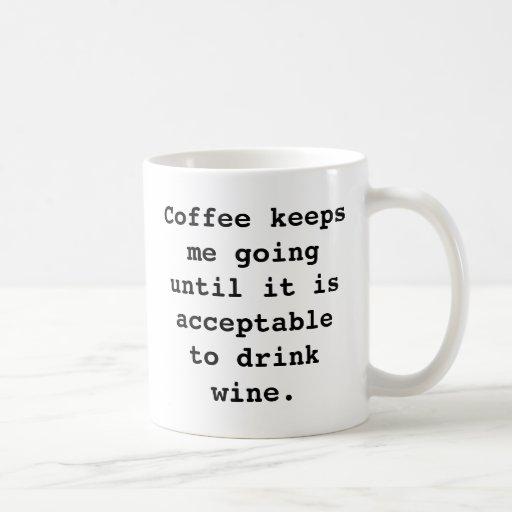 De Mok van de Koffie van de wijn