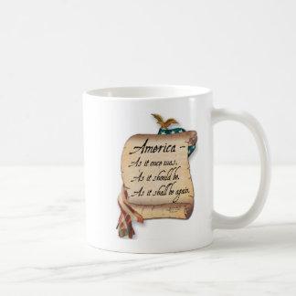 """De Mok van de Koffie van een """"Amerikaanse Toost"""""""