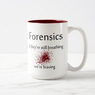De Mok van de Koffie van forensische geneeskunde