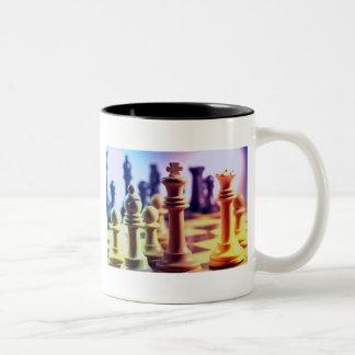 De Mok van de Koffie van het Spel van het schaak