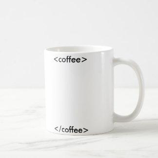 De mok van de Koffie van HTML