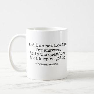 De Mok van de koffie zoek ik geen Antwoorden