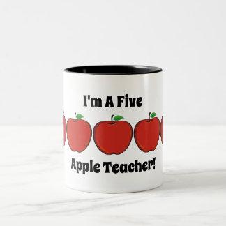 De Mok van de Leraar van vijf Apple