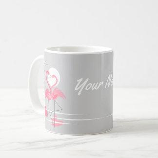 De mok van de Naam van de Liefde van de flamingo