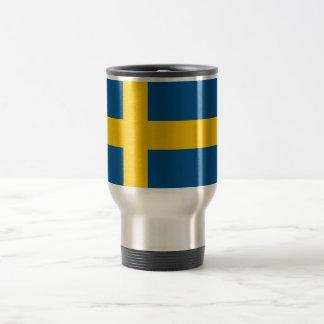 De Mok van de reis met Vlag van Zweden