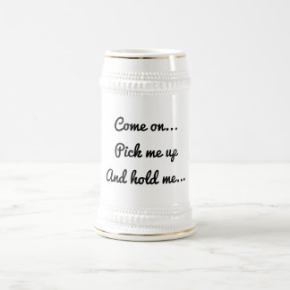De mok van de stenen bierkroes met een