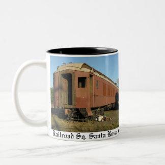 """De """"mok van de trein! """" tweekleurige koffiemok"""