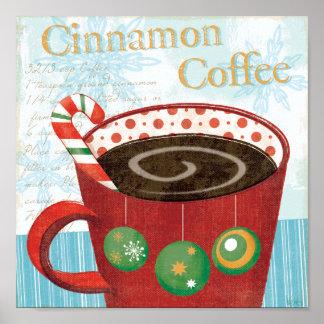 De Mok van de vakantie met de Koffie van de Kaneel Poster