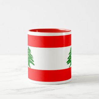 De Mok van de Vlag van Libanon