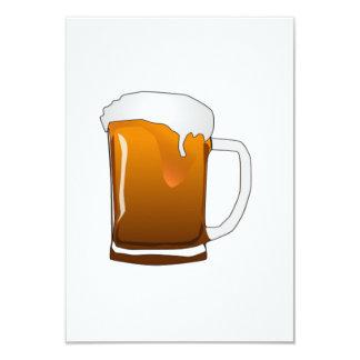 De Mok van het bier 8,9x12,7 Uitnodiging Kaart