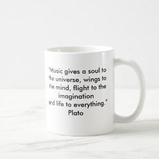 De Mok van het Citaat van de Muziek van Plato
